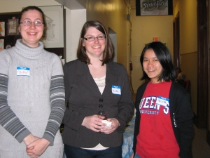 Curator Pamela (centre) with volunteers Tabitha and Melisa at our 2012 Volunteer Appreciation Reception