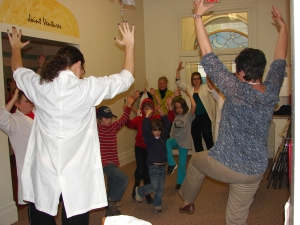 "Volunteers Tabitha and Rhona during our Nov. 23, 2012 PA Day Program ""Temples, Treatments and Tablets"""