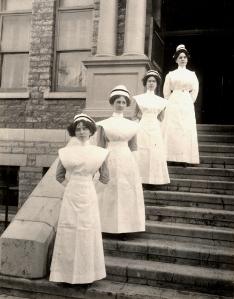 St. Joseph's School of Nursing Graduating Class of 1914.  Courtesy of the RHSJ St. Joseph Regional Archives