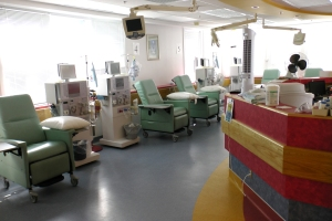 The dialysis unit at Weeneebayko General Hospital. Image Courtesy of Weeneebayko General Hospital.