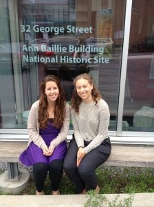 Lucy (left) and Julia (right), summer 2013 Public Program Assistants