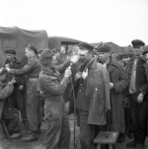 Figure 1: No. 14 Canadian Field Hygiene Section delousing liberated Russian prisoners of war, 1945. Source: Library and Archives Canada, PA-167232.