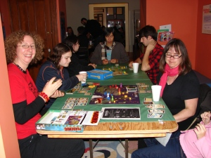 Participants playing Pandemic at the Museum's first Board Game Night (November 2014).