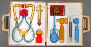 Toy medical kit by Fisher Price, 1977, Collection of the Museum of Health Care 008056002
