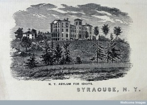 L0029049 The New-York State Asylum for Idiots, Syracuse. Wood engravi Credit: Wellcome Library, London. Wellcome Images