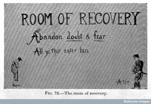 "L0023551 ""Room of recovery"", war neurosis. Credit: Wellcome Library, London. Wellcome Images"