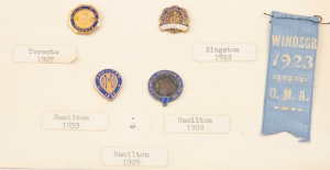 Medical pins from the collection of the Museum of Health Care, 1976.33.2p4, c. 1908-1933