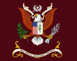 """AMEDD Regimental Flag"" by United States Army - U.S. Army Medical Department Regiment Office. Licensed under Public domain via Wikimedia Commons - http://commons.wikimedia.org/wiki/File:AMEDD_Regimental_Flag.jpg"