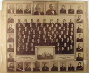 This composite photograph of the graduating class of the University of Toronto's Medical College from 1888 demonstrates the popularity of the beard even amongst doctors and medical students in Canada (click on image to enlarge). The style also came to British North America following the Crimean War and remained popular well after Confederation in 1867. Museum of Health Care # 1984.6.162