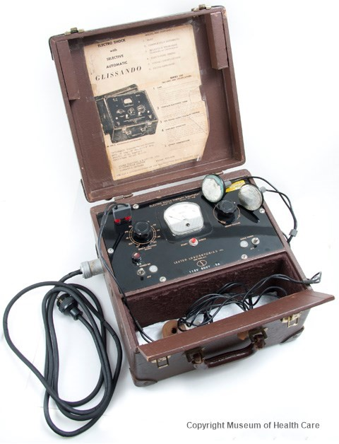 An electroconvulsive therapy machine used during the 1960s and 70s.